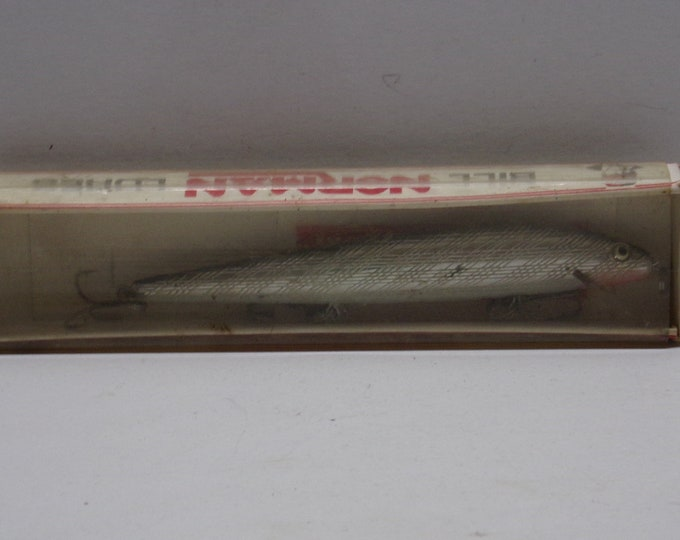 """Vintage bill norman floating minnow lure size 5"""" from 1970s"""