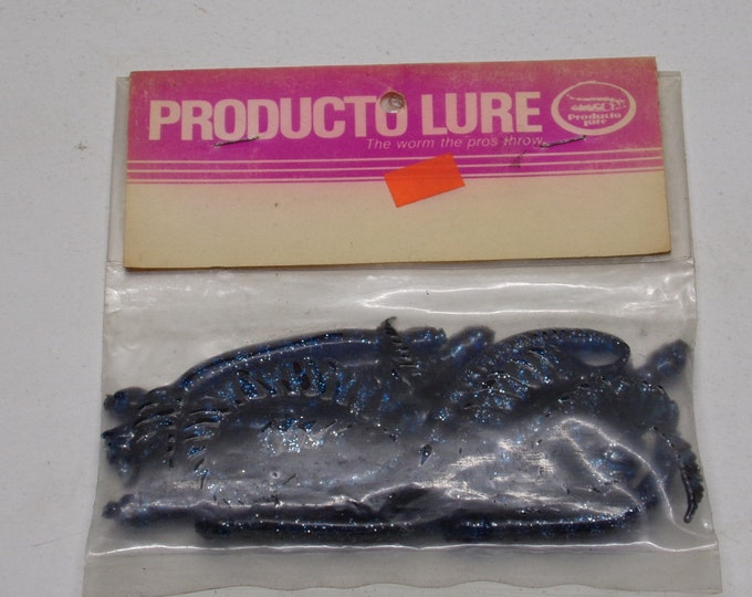 """Vintage Producto snake head rubber worms 8 pack of 6""""worms from 1970s."""
