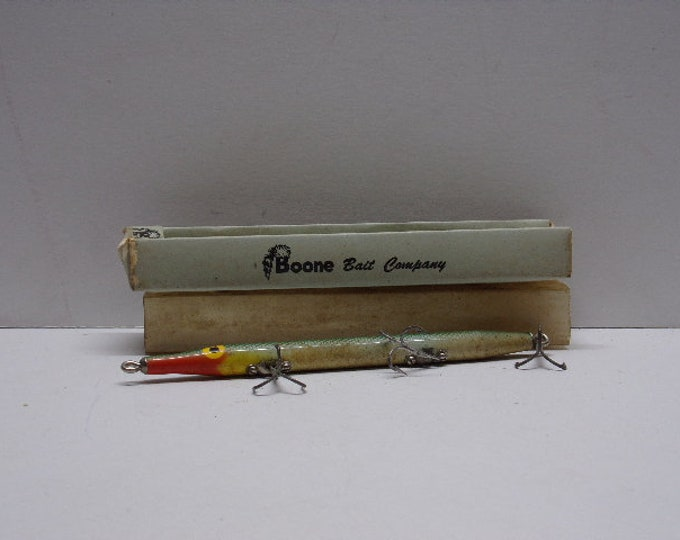 Vintage  topwater lure needle fish from boone bait company 1960s 1970s