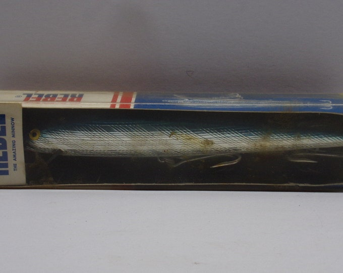"Vintage rebel floating minnow lure size 7"" 2oz  no s1403 from 1970s"