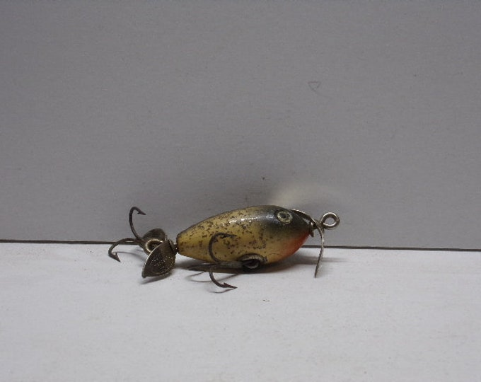 "Vintage shakespeare midget spinner topwater lure size 3""  1940s1950s"