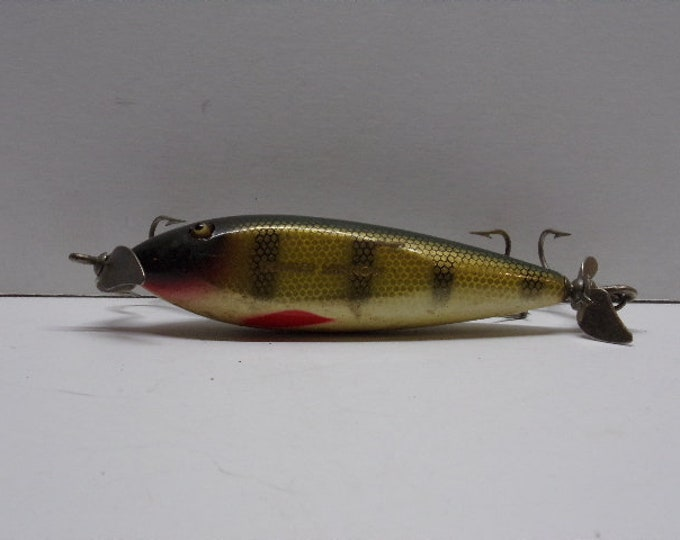 Vintage creek chub injured minnow topwater prop lure from 1960s