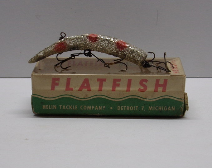Vintage flatfish fishing lure model u20 from 1960s