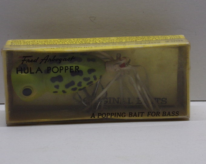 Fred arbogast hula popper topwater lure from 1960s1970s