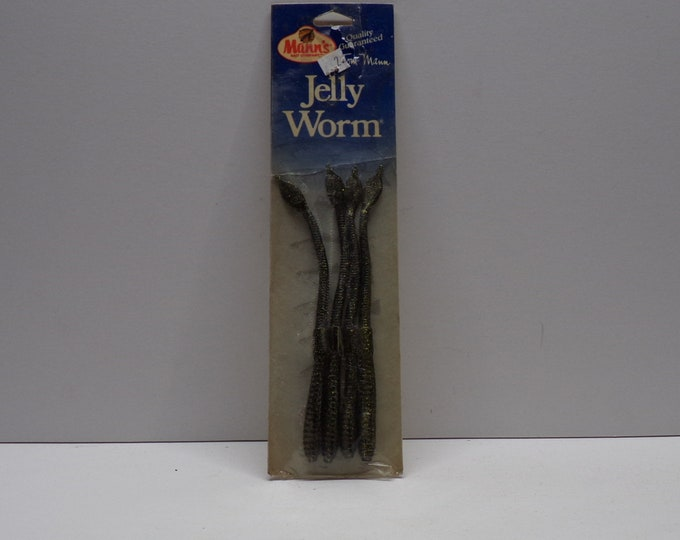 """Vintage manns jelly worm 4 pack of 6"""" worms from 1980s."""
