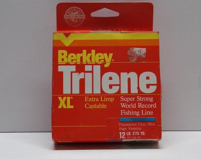 Vintage berkley trilene xl 12lbs test fishing line made in the 1980s1990s