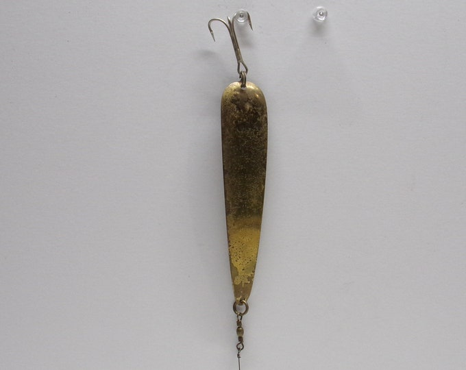 Vintage miller mfg  pike muskie trout fishing spoon lure made in the 1950s1960s