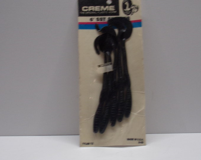 """Vintage creme sst spoiler rubber worm 5 pack of 6""""worms from 1980s."""