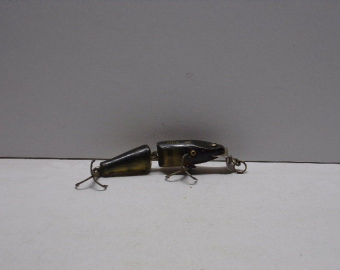 "Vintage creek chub diving jointed minnow the mini pikie lure 4"" from 1950s1960s"