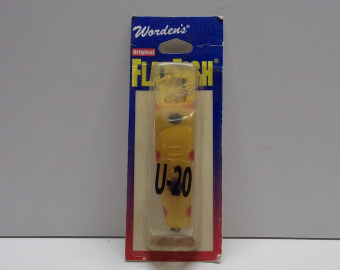 Vintage wordens flatfish flat fish u-20 lure from 1970s 1980s