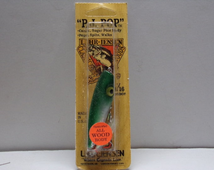 Vintage luhr - jensen popper p.j. pop topwater lure from 1980s1990s
