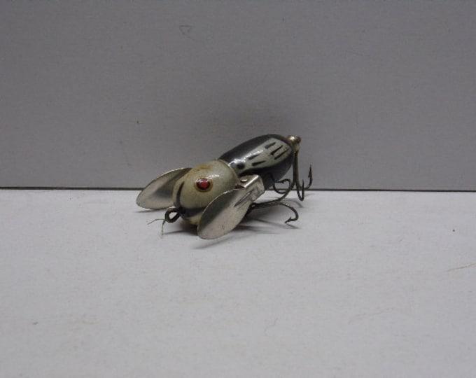 "Vintage heddon tiny crazy crawler topwater lure size 2""  1950s1960s"