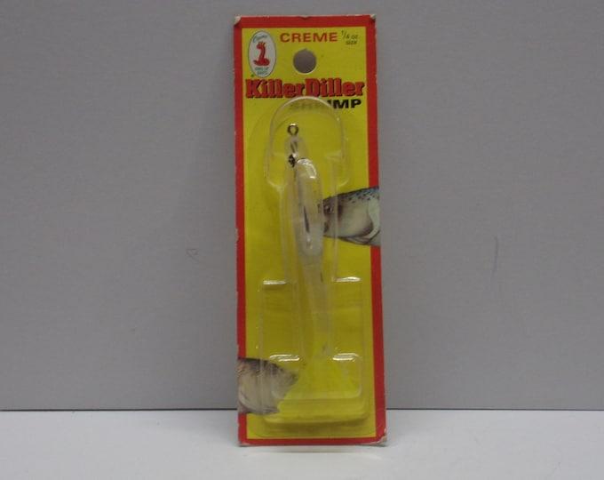 Vintage creme killer diller shrimp lure from 1980s.