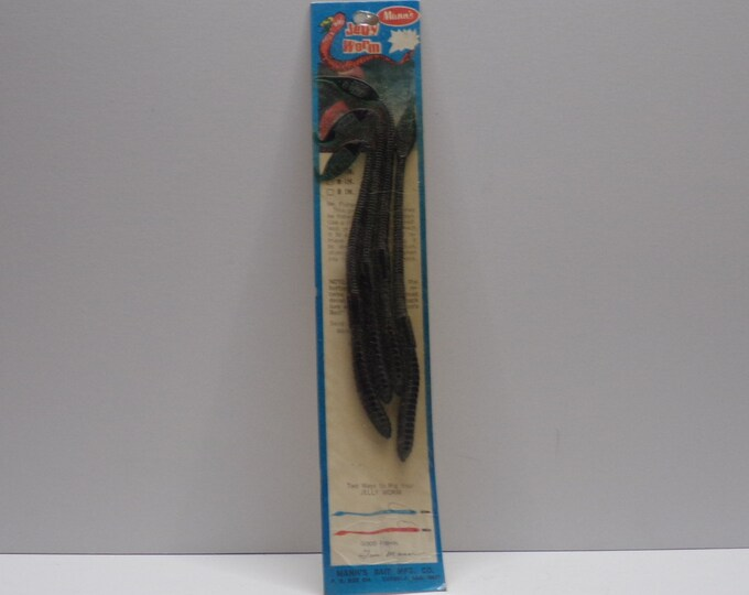"""Vintage manns jelly worm 4 pack of 7"""" worms from 1980s."""