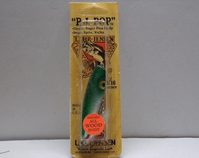 Vintage luhr - jensen popper p.j. pop topwater lure from 1980s1990s
