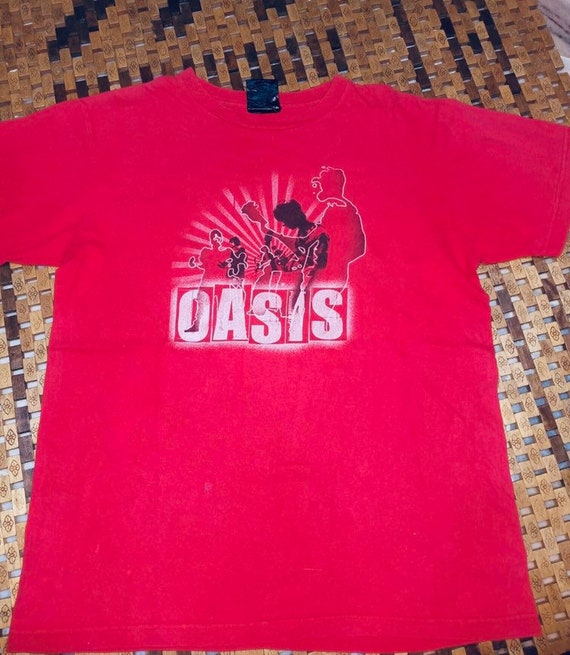 Vintage Oasis British Rock Band T-Shirt Crewneck