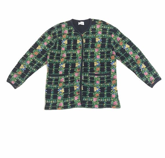 Vintage Kenzo Paris Floral Sweater