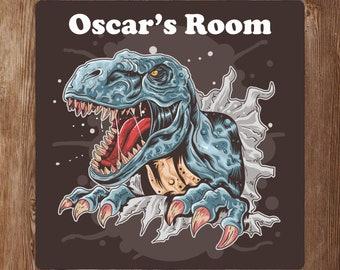 Placa De Dinosaurio Personalizado Mdf Decorar