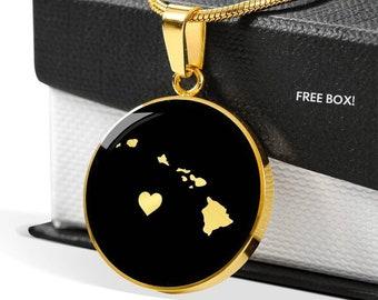 Hawaiian Islands Necklace, Hawaii necklace, Hawaii gift, Hawaii pendant, Hawaii jewelry, Hawaii charm, country necklace