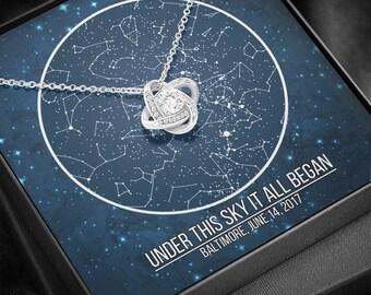 1 year anniversary gift for girlfriend, 1st anniversary gift for girlfriend, Personalized anniversary gift, Star Map anniversary gift