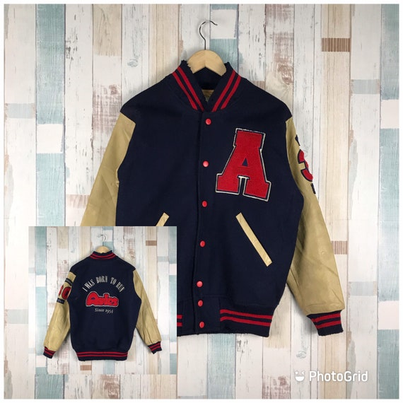 Vintage Distressed Avies I Was Born To Run Varsity