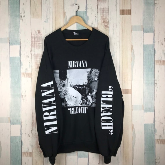 Vintage 90s Nirvana Bleach Sweatshirt Bootleg #ban