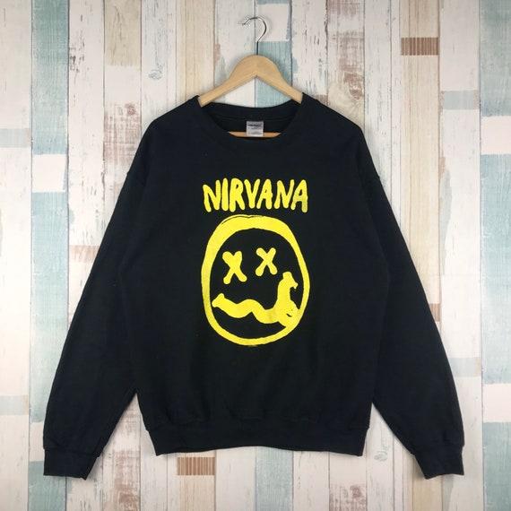 Nirvana Smiley Sweatshirt #bandtees #rock #music #
