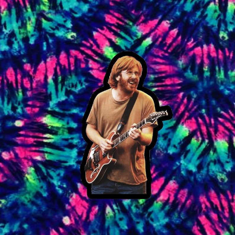 Trey Anastasio Smiles 4 Miles  3\u201d Stickers Phish