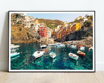 Riomaggiore city print, Cinque Terre poster, Vernazza, Italy, HIGH QUALITY PRINT, Home Decor, Wall Art, Photography Poster