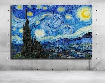 Mary Poppins Umbrella Poster Canvas Print Starry Night Wall Decor Art A066