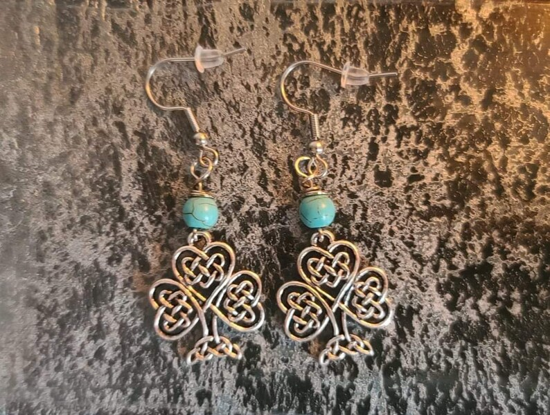 Celtic Irish Shamrock Earrings