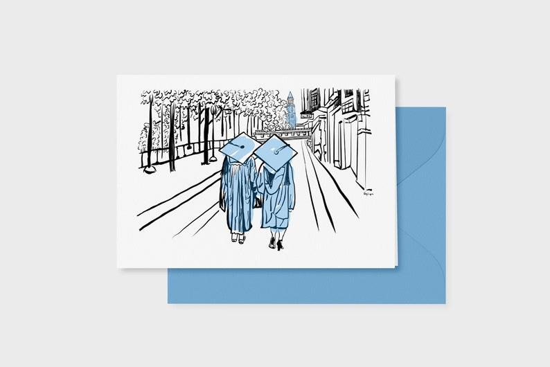 Graduation Card UNC Chapel Hill 5x7 single card image 0
