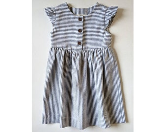 Baby girl gift baby girl summer dress Organic baby dress Organic baby dress whale baby clothes ocean dress beach dress