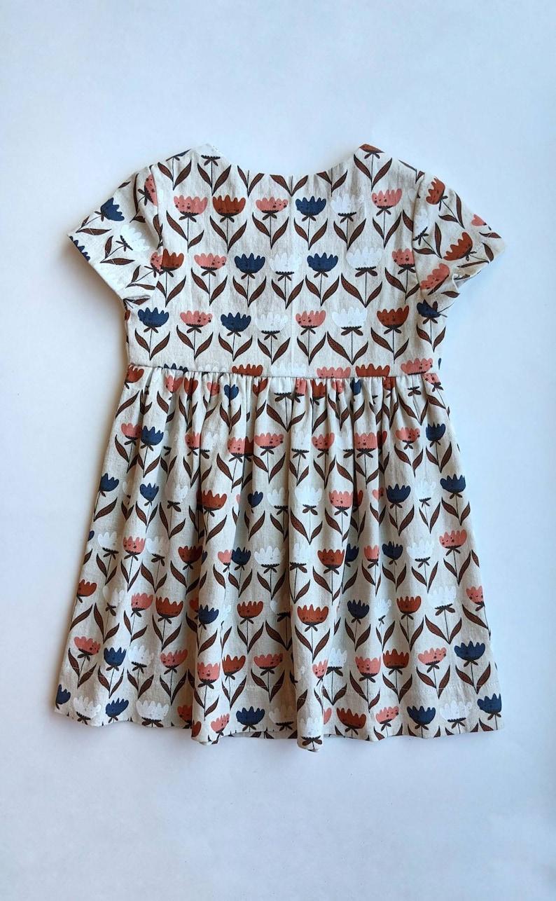 Girls organic cotton and linen dress organic baby dress girls summer dress made to order