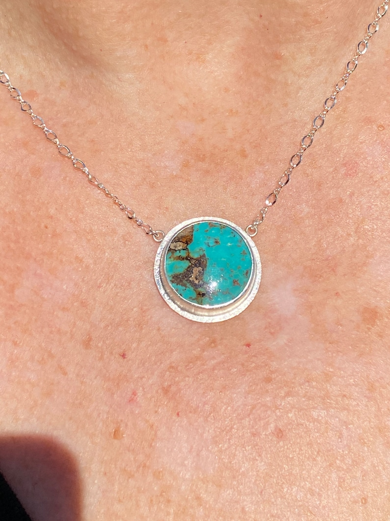 Sterling Silver Kingman Mine Turquoise Necklace
