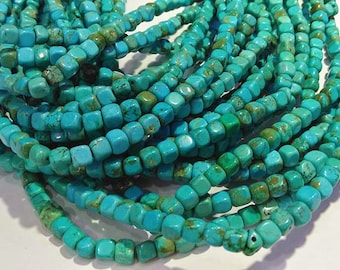 Cubes and Rondelles - Cathedrals Rounds DESTASH Turquoise Teal Green Beads #1124 Ovals Nuggets