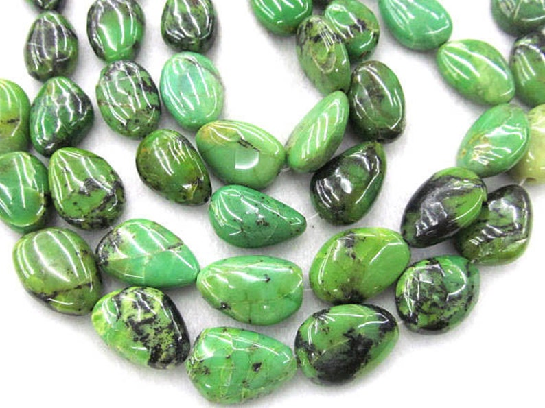 12X16mm Natural Green Chrysoprase jade gemstone,Polished nuggets teardrop slab drop Pendant necklace making,girl gift