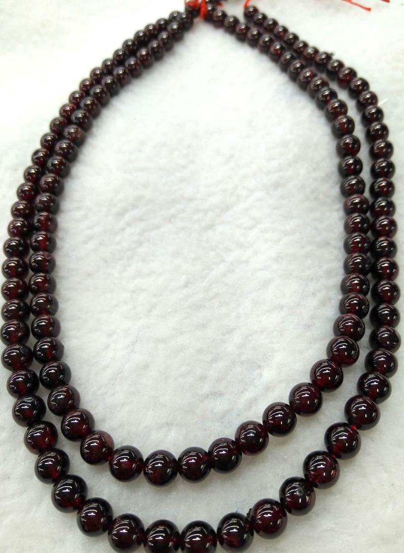 4-8mm Natural Garnet gemstone,Rhodlite Crimson red round ball Loose beads strand for necklace bracelet,semi-preciou A