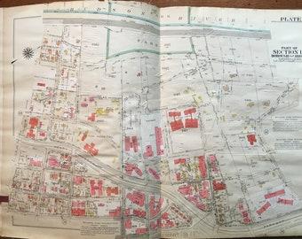 1908 BUSHWICK PARK BROOKLYN NY GERMAN HOSPITAL P.S 53 /& P.S 145 ATLAS MAP