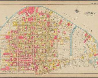 map of greenpoint brooklyn ny 1908 Greenpoint Brooklyn Ny St Alphonsus St Anthony School Etsy map of greenpoint brooklyn ny