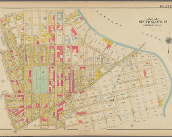 53 /& P.S 1908 BUSHWICK PARK BROOKLYN NY GERMAN HOSPITAL P.S 145 ATLAS MAP