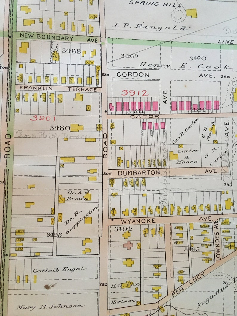 1906 Guilford Waverly Baltimore Maryland John Hopkins University ATLAS MAP