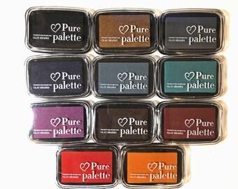 Vintage Colours Stamp Pigment Ink Pad - Fabric, Wood & Paper - DIY Journal Bujo Planner Scrapbook Craft