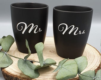 Customizable wedding mugs   Mr. & Mrs.   Gift Wedding   Coffee Mug Wedding   Desired name   Desired date