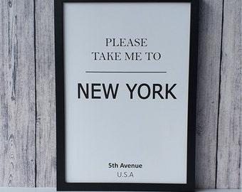Poster New York   Mural Poster Travel   Poster Scandinavian style   Scandi Poster travel