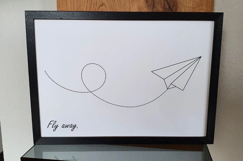 Poster Fly away  Posters travel  Poster skandi style  image 0