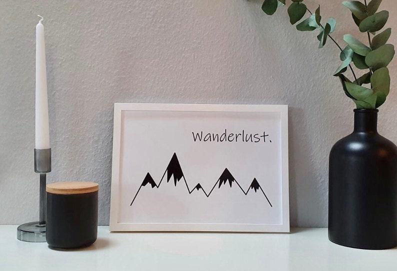 Poster Wanderlust  Poster skandi style  Poster black white  image 0