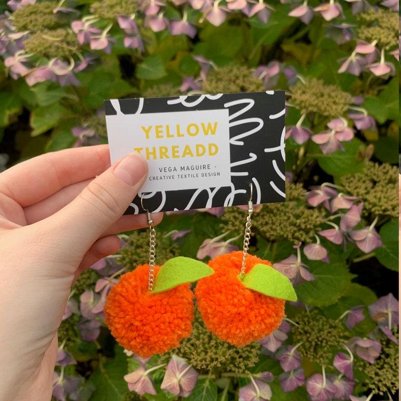 Orange Earrings image 0