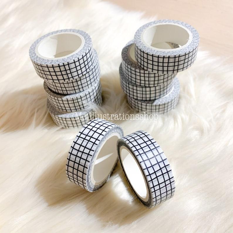 15 MM x 10 M irregular lines grid washi tape scrapbooking planner decoration white grid washi tape grid planner washi planner supplies