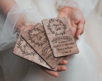 IN0004 Custom Rustic Wedding Invitation